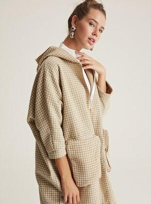 Gold -  - Wool Blend - Coat