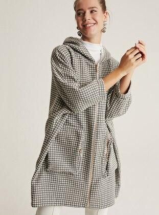 Gray -  - Wool Blend - Coat
