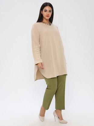 Khaki - Plus Size Pants