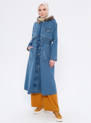Blue - Fully Lined -  - Puffer Jackets