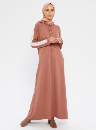 Dusty Rose - Polo neck - Unlined - Acrylic -  - Knit Dresses