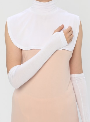 White - Viscose - Neckcover