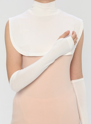 Cream - Viscose - Neckcover - Ecardin
