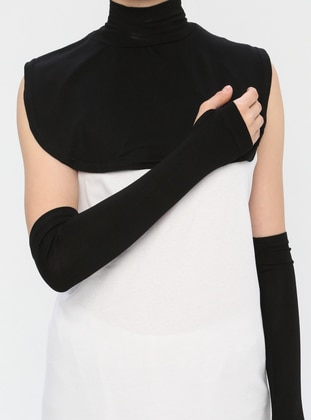 Black - Viscose - Neckcover
