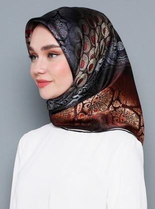 Multi - Printed - %100 Silk - Scarf - Armine Eşarp