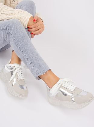 Beige - Silver tone - Sport - Sports Shoes