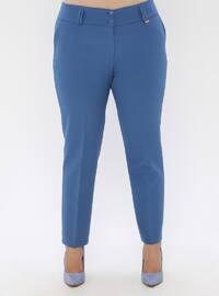 Blue - Plus Size Pants