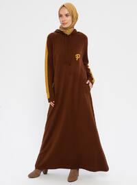 Tütün - Dik yakalı - Astarsız kumaş - Akrilik - Örme - Örme elbiseler