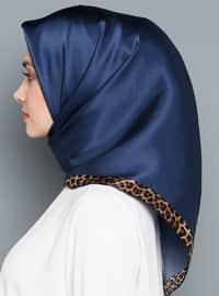 Multi - Plain - Leopard - %100 Silk - Scarf
