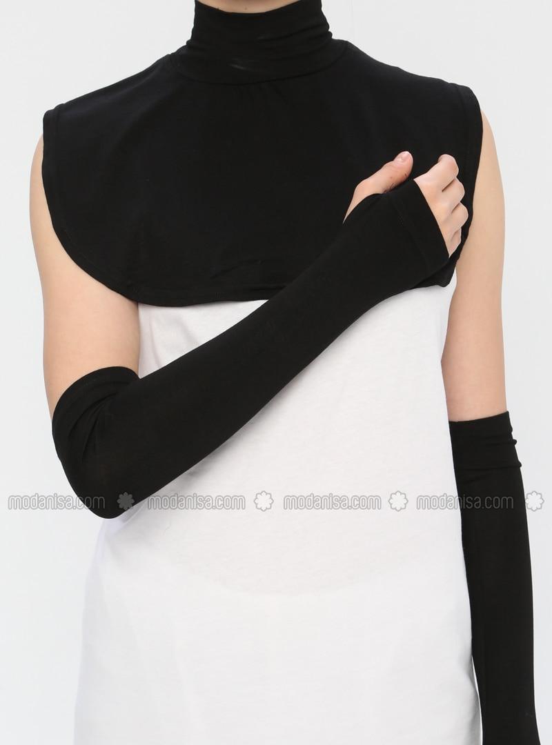Black - Viscose - Neckcover