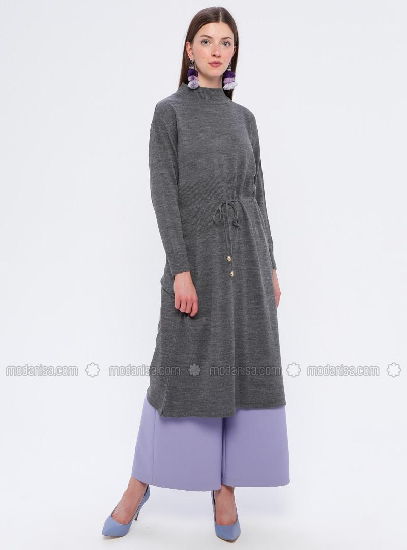anthrazit - rollkragen - ohne innenfutter - acryl - - hijab
