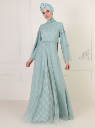 Green Almond - Polo neck - Fully Lined - Dress