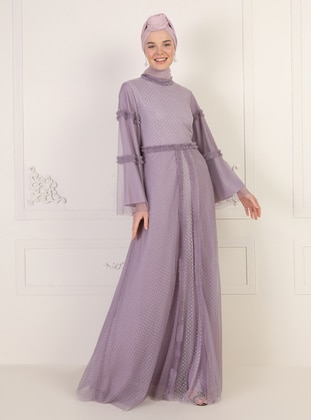 Lilac - Polo neck - Fully Lined - Dress