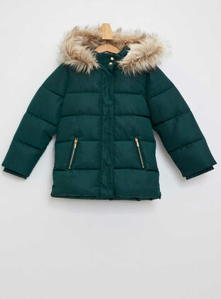 Green - Girls` Jacket - DeFacto