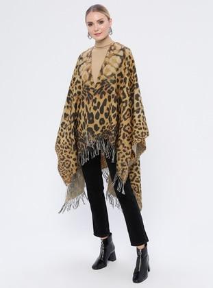 Mustard - Leopard - Acrylic - Poncho