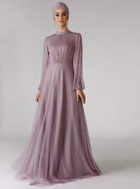 Lilac - Polo neck - Unlined - Dress