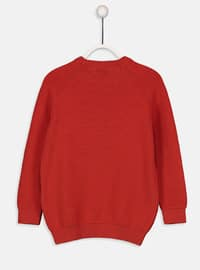 Crew neck - Orange - Boys` Pullover