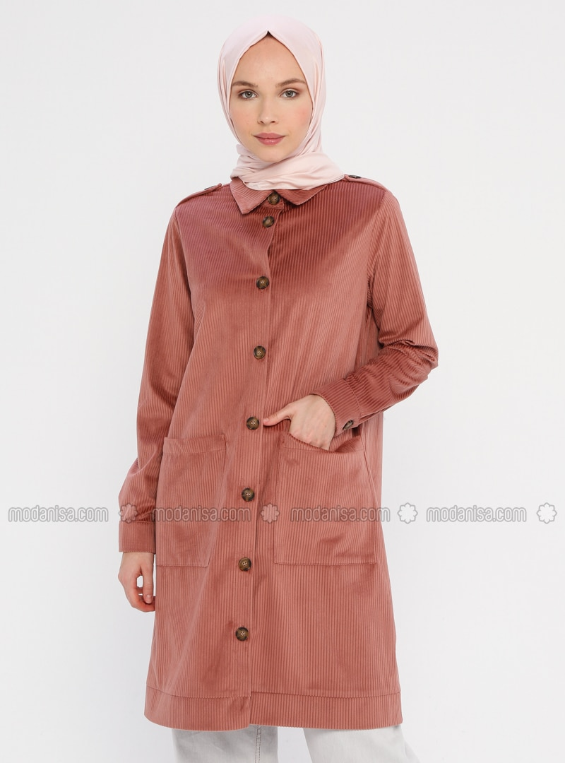 Dusty Rose - Unlined - Point Collar - Jacket