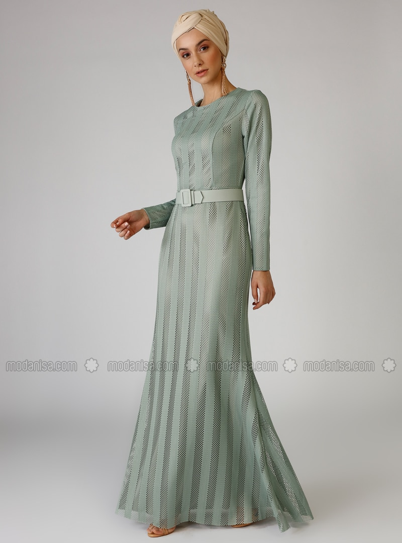 Green Almond - Crew neck - Fully Lined - Dress