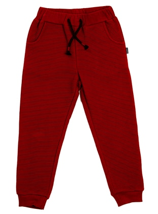 Stripe -  - Maroon - Red - Boys` Tracksuit