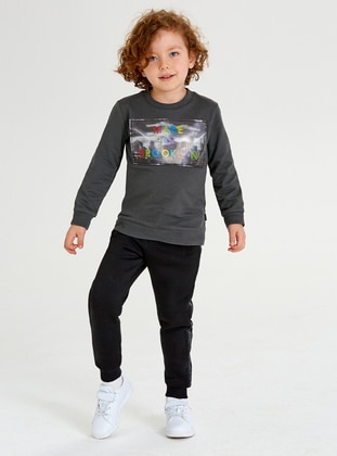 Crew neck -  - Multi - Boys` Suit