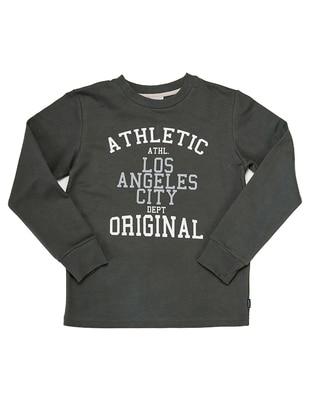 Crew neck -  - Unlined - Anthracite - Boys` Sweatshirt