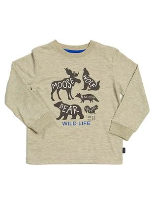 Crew neck -  - Beige - Boys` Sweatshirt