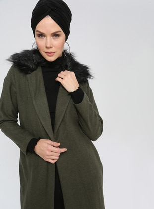 Green - Unlined - Point Collar - Coat
