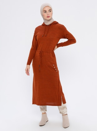 Terra Cotta - Acrylic -  - Wool Blend - Tunic