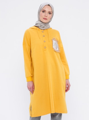 Yellow - Button Collar - Tunic