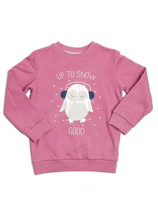 Crew neck -  - Lilac - Girls` Sweatshirt