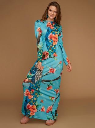 Multi - Multi - Boat neck - Unlined -  - Dress