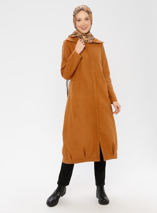 Camel - Unlined - Point Collar -  - Coat