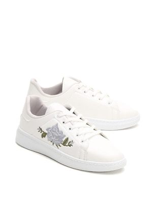 White - Gray - Casual - Shoes