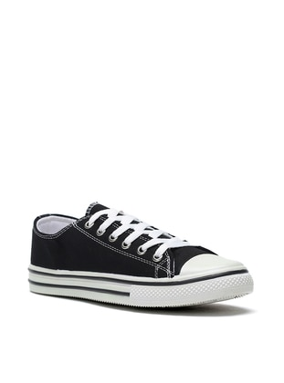 Black - Casual - Shoes - Ayakkabı Modası