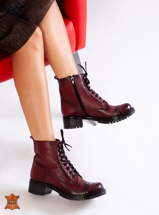 Maroon - Boot - Boots