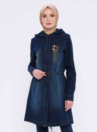 Indigo - Unlined - Denim -  - Coat