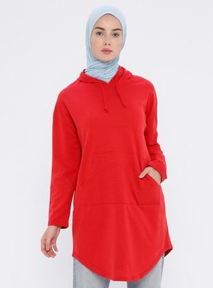 Red - Stripe -  - Tunic