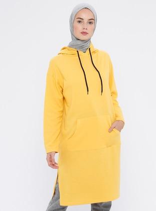 - Stripe - Yellow - Sweat-shirt
