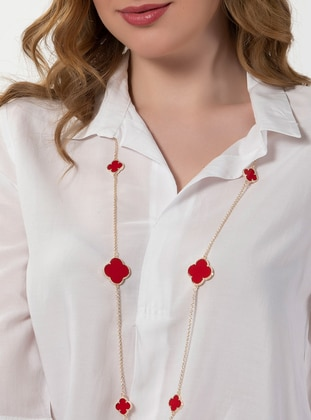 Red - Gold - Necklace