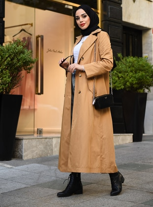 Camel - Unlined -  - Trench Coat