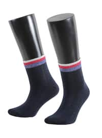 Navy Blue -  - Socks
