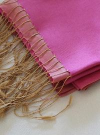 Pink - Plain - %100 Silk - Shawl