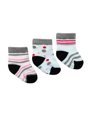 Crew neck -  - Unlined - White - Socks