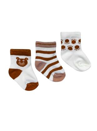 Crew neck -  - Unlined - Brown - Socks