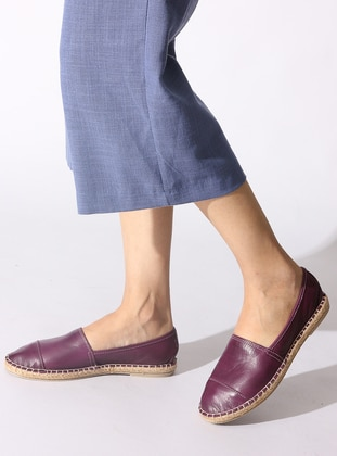 Purple - Flat - Flat Shoes
