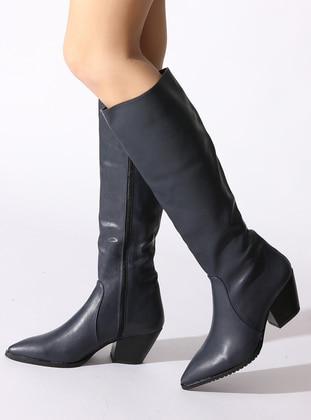 Navy Blue - Boot - Boots - ROVIGO