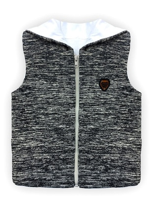 Crew neck - - Unlined - Gray - Boys` Vest