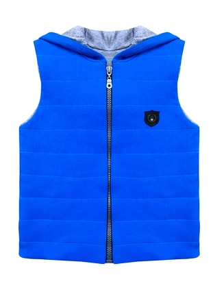 Crew neck -  - Unlined - Blue - Boys` Vest - BY LEYAL