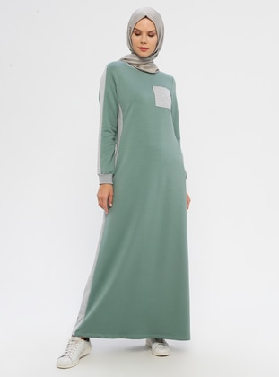 Green Almond - Crew neck - Unlined -  - Dress